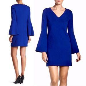 CeCe Lizzie Bell-Sleeved V-Neck Sheath Dress 14